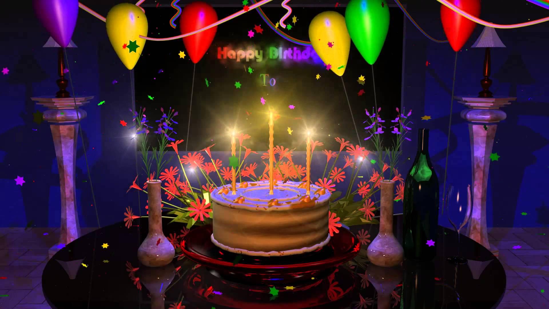 Поздравительная открытка с днем рождения на рабочий стол
