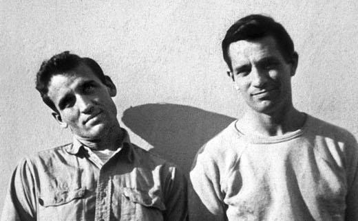 L'ecrivain americain Jack Kerouac (1922-1969) et Neil Cassady en 1952 photo prise par Carolyn Cassady -- American writer Jack Kerouac (1922-1969) and Neil Cassady in 1952 photo taken by Carolyn Cassady