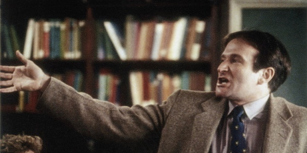 DEAD POETS SOCIETY, Robin Williams, 1989. © Buena Vista Pictures/ Courtesy: Everett Collection