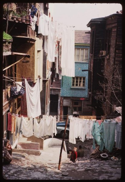 you-could-spot-laundry-hanging-from-balconies