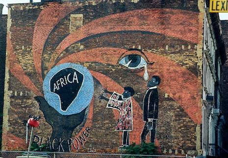 Black Power Mural, Lexington Ave., Harlem, 1970