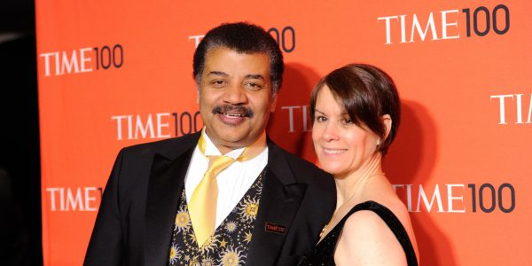 Neil deGrasse Tyson and wife Alice Young arrive at the 2014 TIME 100 Gala held at Frederick P. Rose Hall, Jazz at Lincoln Center on Tuesday, April 29, 2014 in New York. (Photo by Evan Agostini/Invision/AP)
