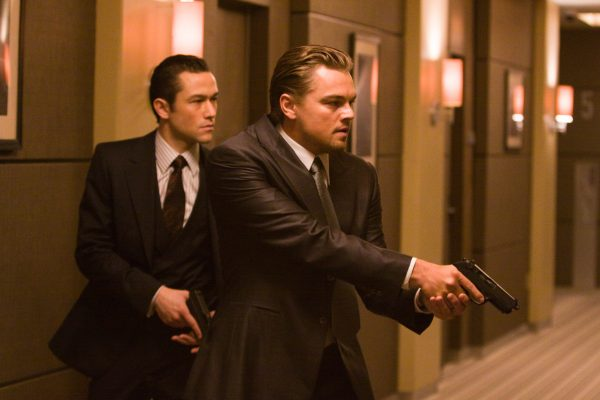 "(L-r) JOSEPH GORDON LEVITT as Arthur and LEONARDO DI CAPRIO as Cobb in Warner Bros. Pictures' and Legendary Pictures' sci-fi action film ""Inception,"" a Warner Bros. Pictures release."