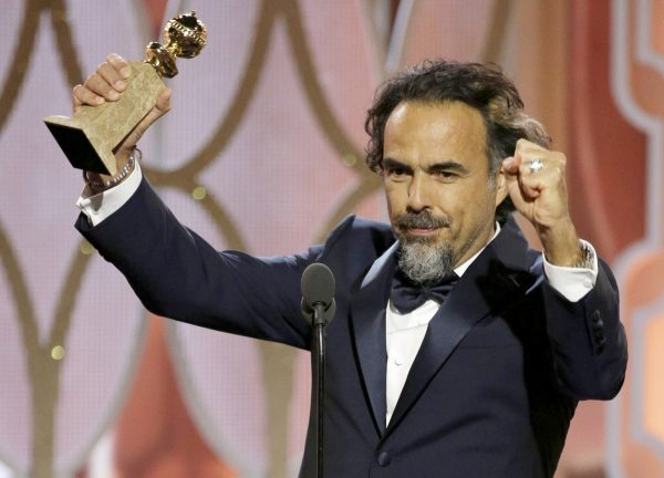 "BEVERLY HILLS, CA - JANUARY 10: In this handout photo provided by NBCUniversal,  Alejandro G. Inarritu accepts the award for Best Director - Motion Picture for ""The Revenant"" during the 73rd Annual Golden Globe Awards at The Beverly Hilton Hotel on January 10, 2016 in Beverly Hills, California.  (Photo by Paul Drinkwater/NBCUniversal via Getty Images)"