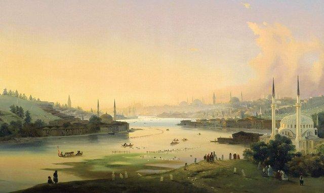 ippolito-caffi- istanbul- osmanli
