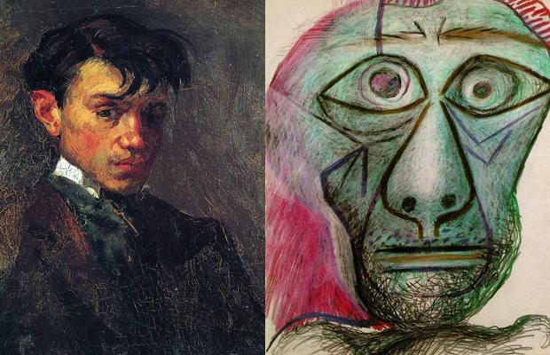 Picassonun 15 Yaşından 90 Yaşına Kadar çizdiği Otoportrelerinin