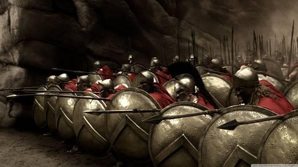 vov8. Tum Spartalı erkekleri hayat boyu asker