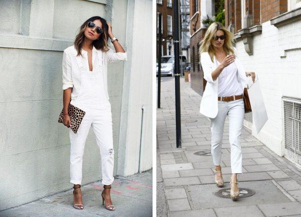 beyaz tişört - beyaz pantolon