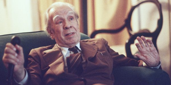 Argentina's writer Jorge Luis Borges talks in his Buenos Aires apartment on Nov. 20, 1981.  (AP Photo/Eduardo Di Baia)