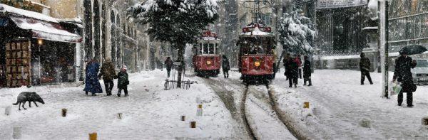 Beyoğlunda tramvaylar