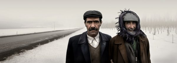 Yol kenarında iki adam