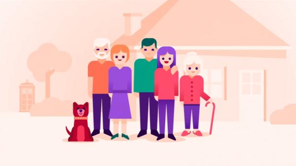 aile-kopek-mutlu