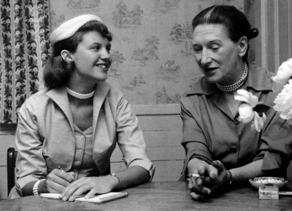spBowen1-1600.tif Sylvia Plath interviewing Elizabeth Bowen for Mademoiselle, May 26, 1953