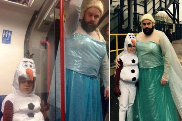 Frozen-loving-dad-dresses-up-as-Elsa-on-the-London-Underground