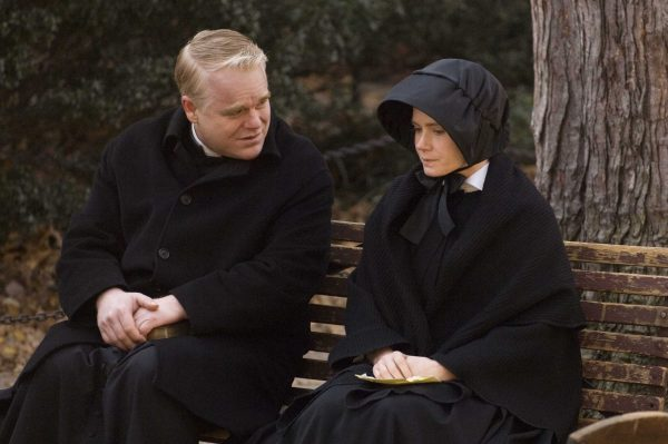 Philip Seymour Hoffman as Father Flynn and Amy Adams as Sister James. Photo Credit: Andrew Schwartz/Miramax Film Corp