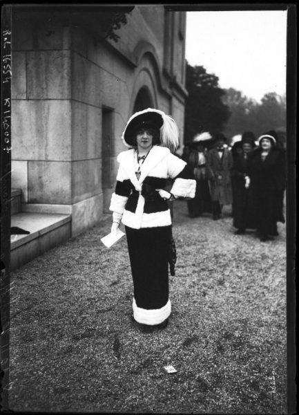 1911 Fashions at Longchamps [Elegant young woman]