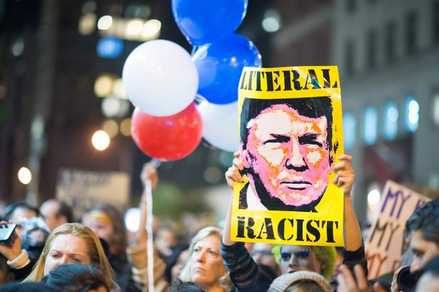 New-Yorkers-Take-To-The-Street-To-Protest-President-Elect-Donald-Trump
