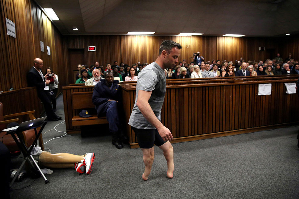 2013 murder of his girlfriend Reeva Steenkamp, at Pretoria High Court, South Africa June 15, 2016