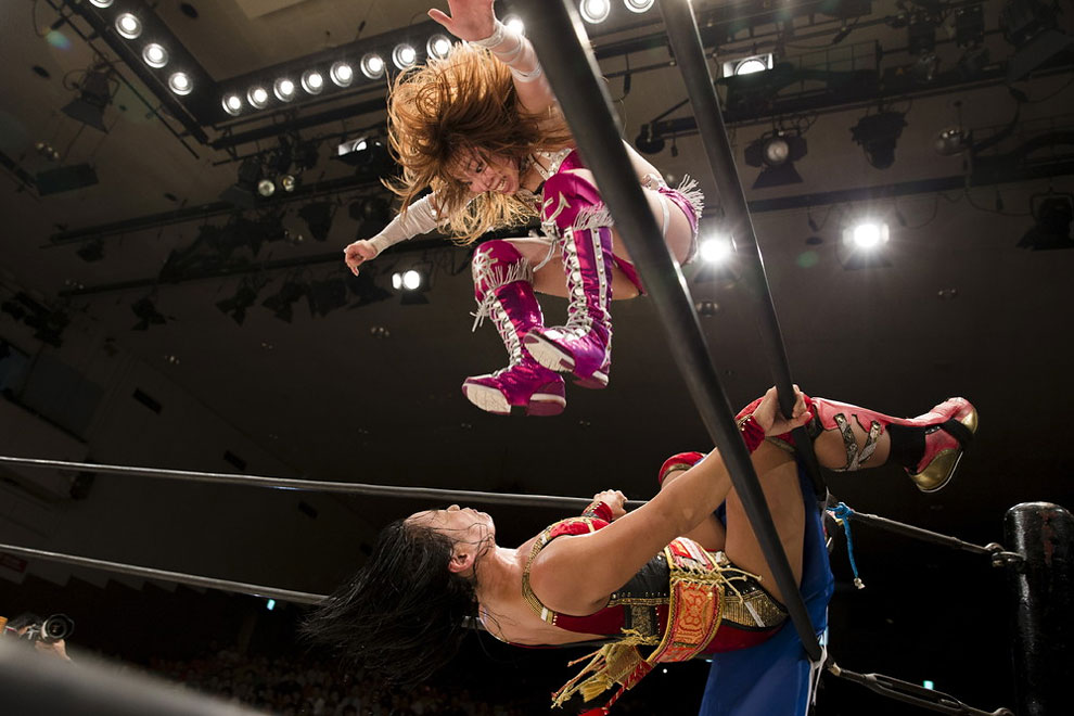 Stardom female professional wrestling show at Korakuen Hall in Tokyo, Japan, July 26, 2015.