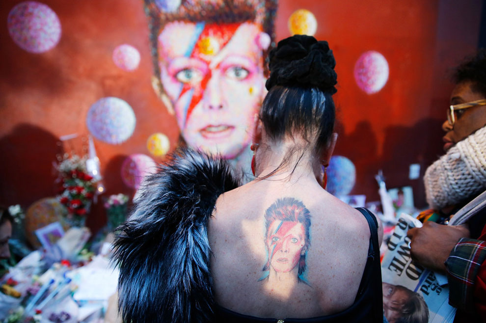 mural of David Bowie in Brixton, south London, January 11, 2016