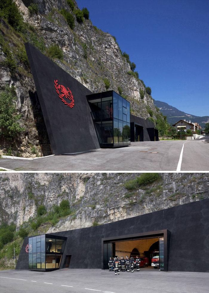 56 Italian Fire Station, Margreid, Italy