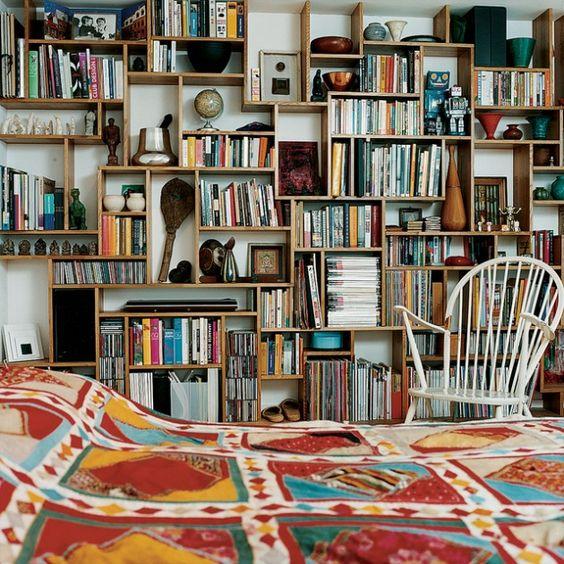 010 yatak odası kitaplık