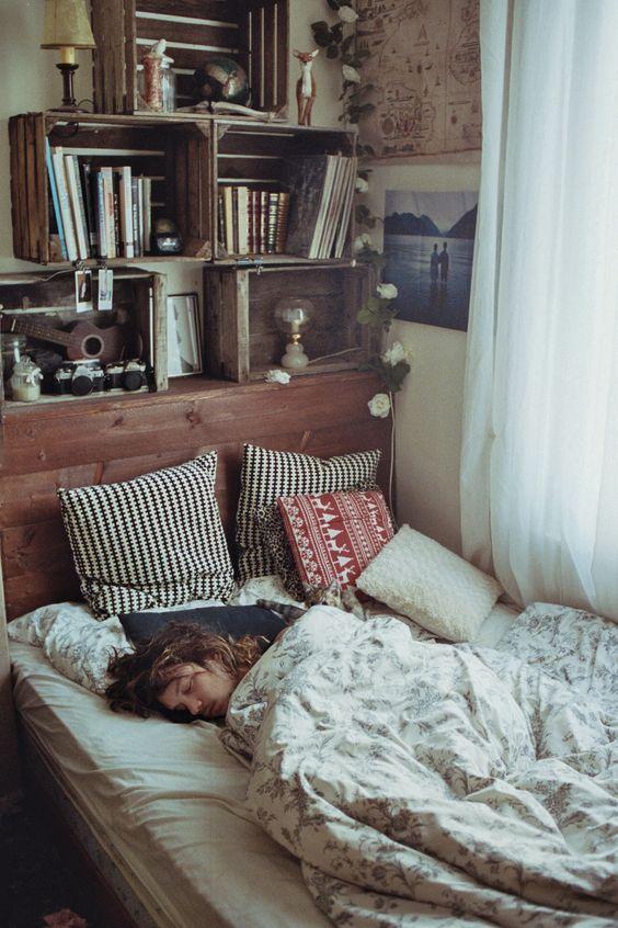 012 yatak odası kitaplık