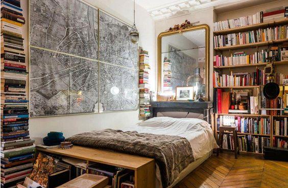 013 yatak odası kitaplık