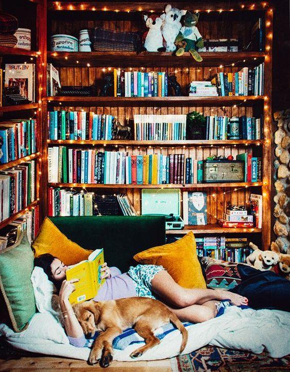 014 yatak odası kitaplık