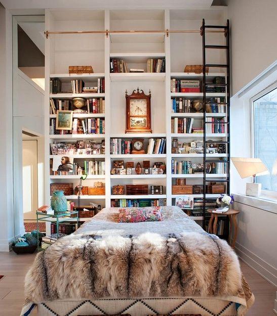 016 yatak odası kitaplık