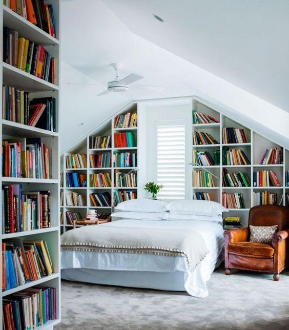 018 yatak odası kitaplık