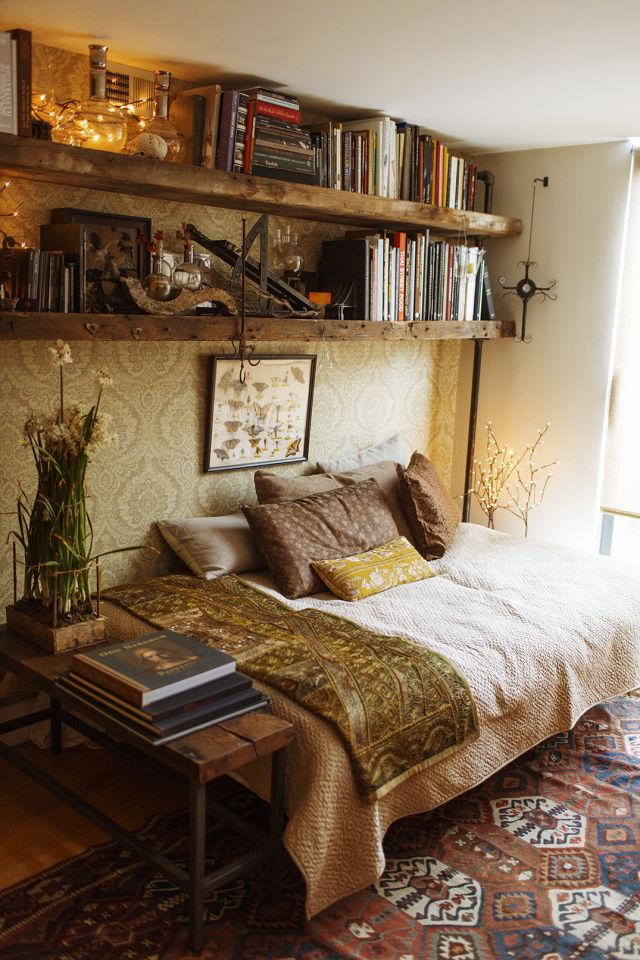 019 yatak odası kitaplık