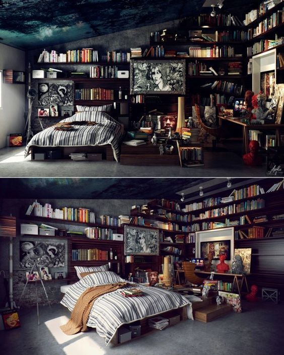 02 yatak odası kitaplık