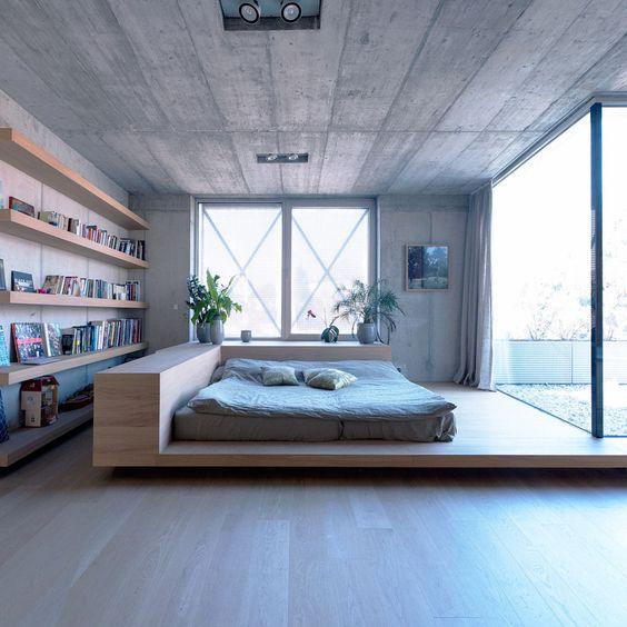021 yatak odası kitaplık