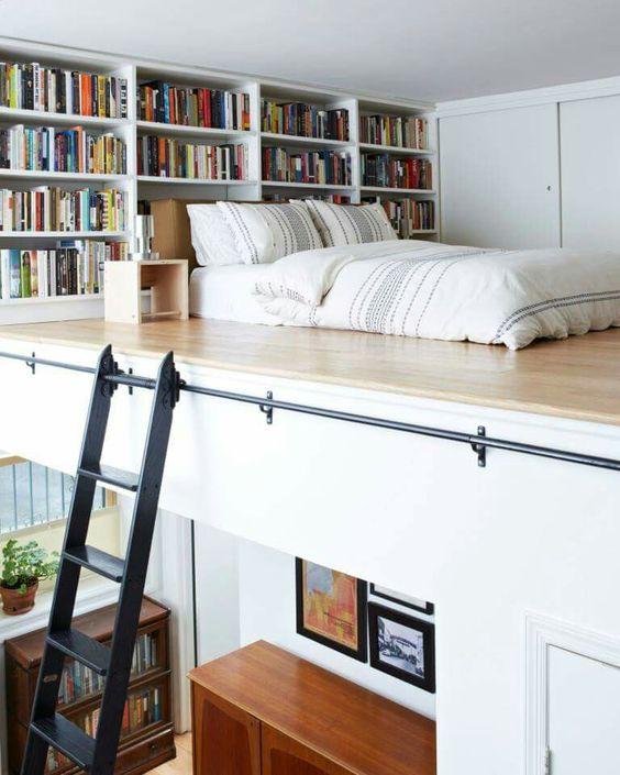 025 yatak odası kitaplık