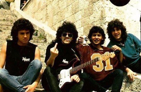Pentagram1989KadrosuHarbiye Açıkhava Tiyatrosu (soldan sağa) Cenk Ünnü, Hakan Utangaç, Tarkan Gözübüyük, Ümit Yılbar