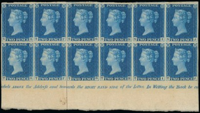Twopenny-Blue-Plate-I-block-12-Chartwell-410