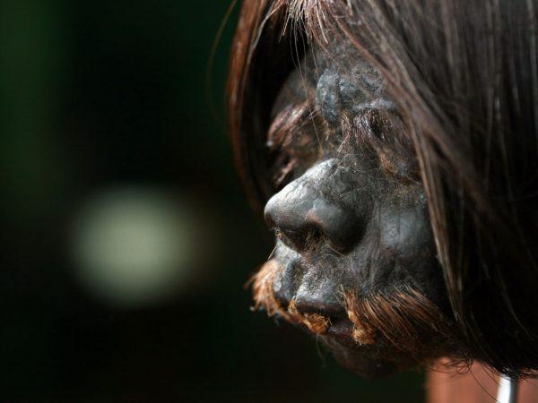 ECUADOR:  Tsantsa Head in the Quito Amazonia Museum. (photo credit: National Geographic Channel)
