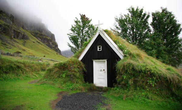 Tiny turf church