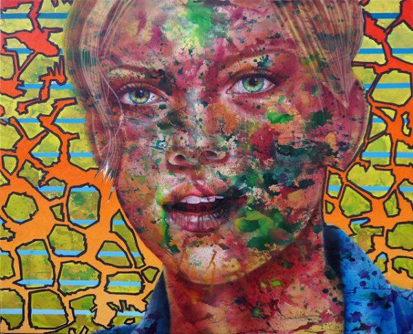 Kadir AKYOL, -scarlett johansson-, 155x180 cm, Oil on canvas, 2016