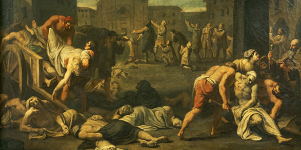 Plague in Rome. Italy, 17th century