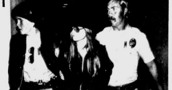January 30, 1979, The Tuscaloosa News, page 3, Brenda Spencer (C) escorted into San Diego police station,