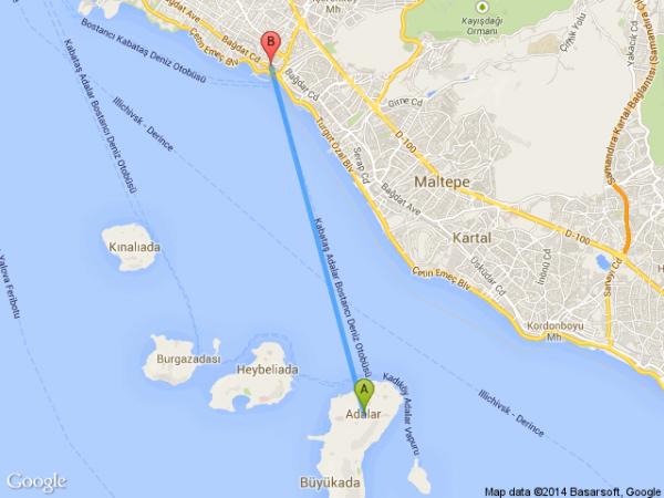 adalar-istanbul-bostanci-deniz-otobusu-harita-km-uzaklik-mesafe