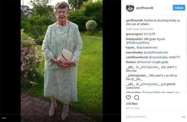 Cutest older man shares photos of his wife on Instagram