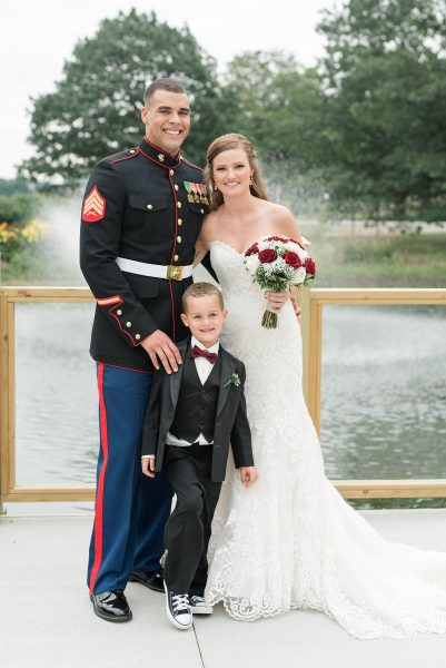 Emily Leehan stepson Gage vows Credit: Jessica Husted Photography