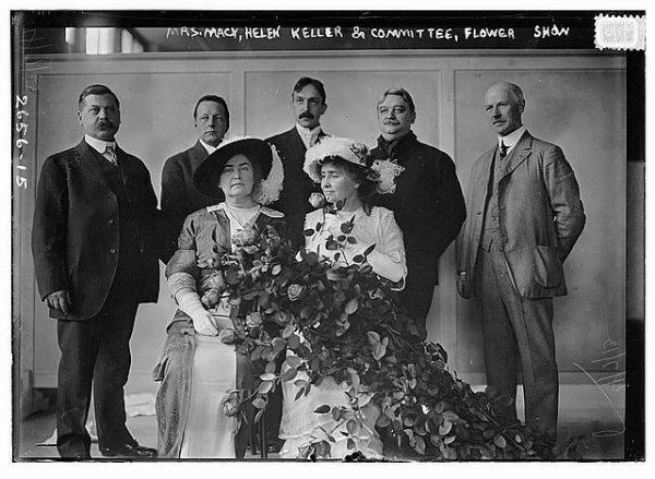Mrs. Macy, Helen Keller and Committee, Flower Show
