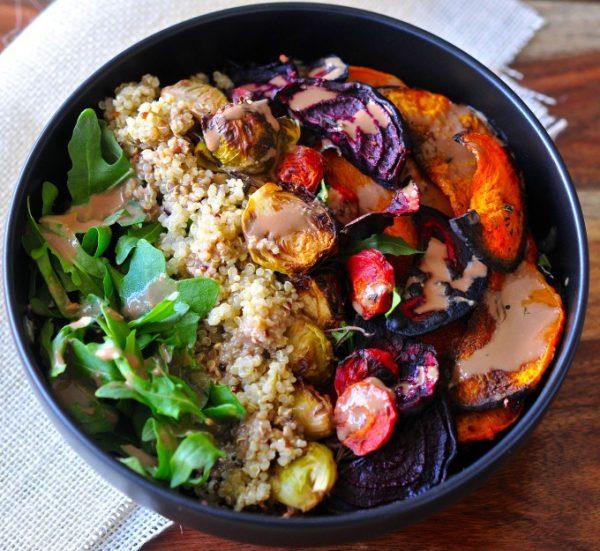 Roasted-Veggie-Quinoa-Tahini-Bowl-1