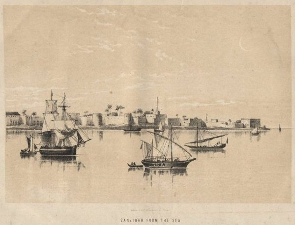Zanzibar from the Sea c 1886