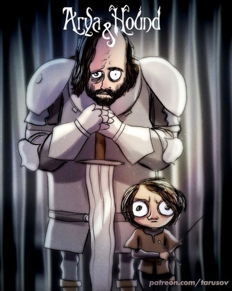 3-Arya Stark And The Hound