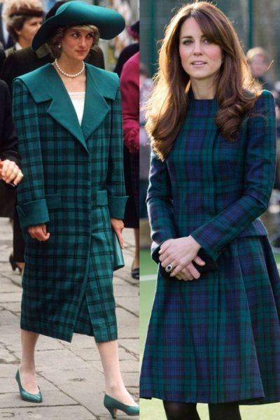 hbz-princess-diana-kate-middleton-green-plaid